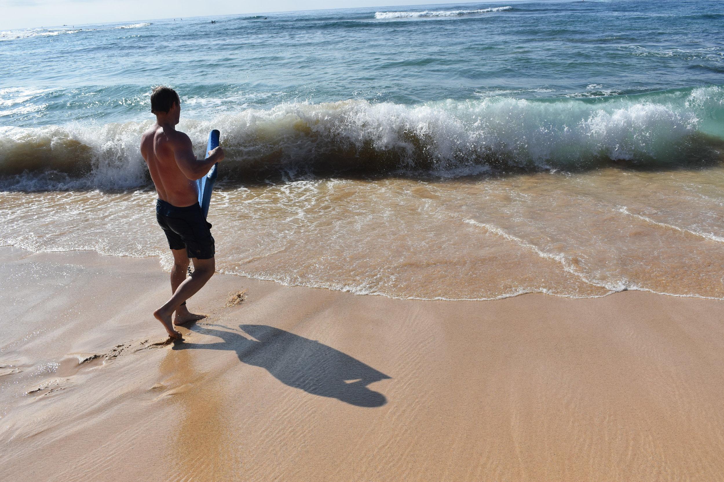 boogie-boarding-on-poipu-beach