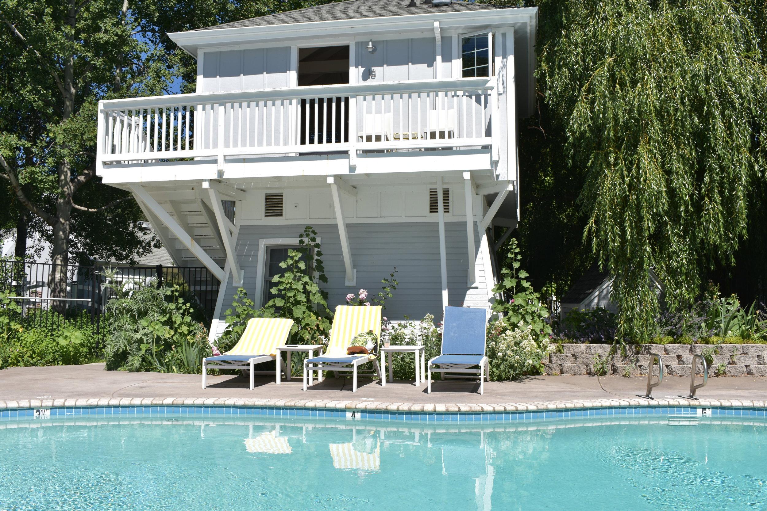 Poolside at Lithia Springs Resort in Ashland, Oregon