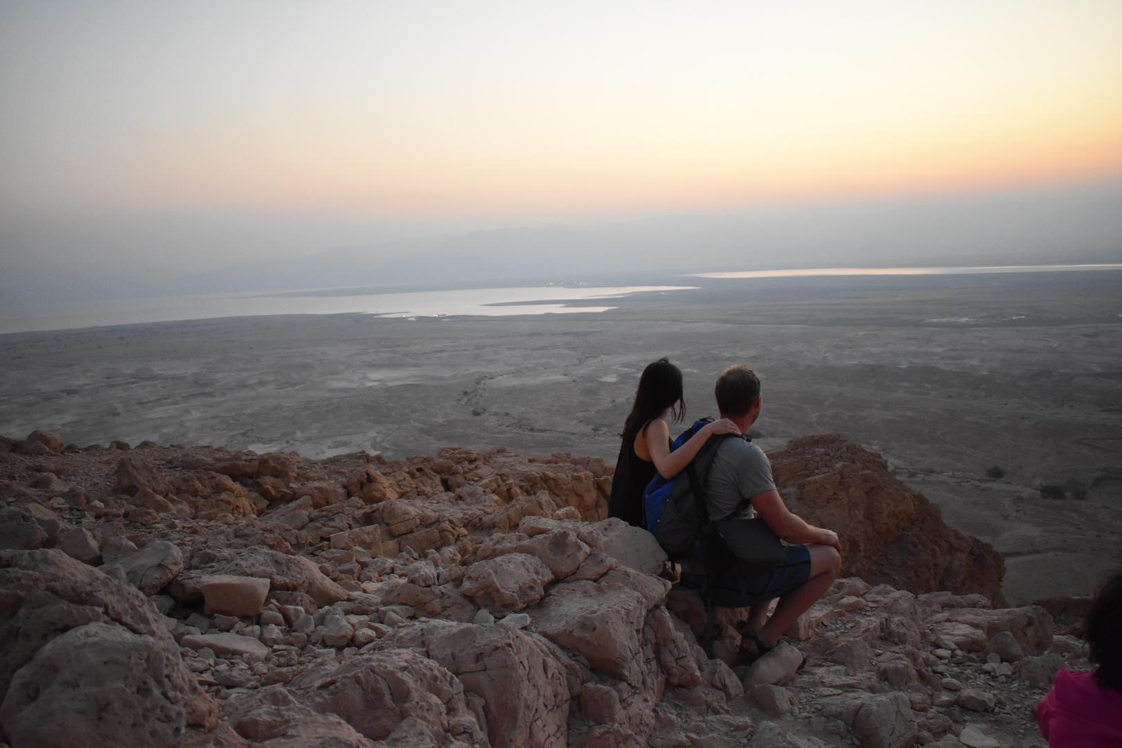 Snake-Trail-climbing-Mt-Masada-Israel
