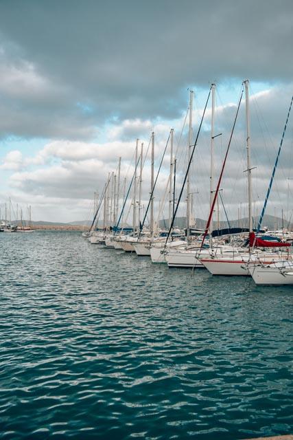 The port of Alghero, Sardinia