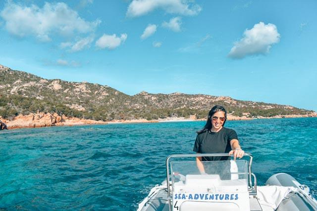 Renting a boat in La Maddalena