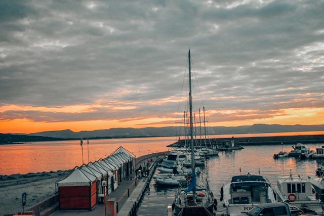 Sunset on Isola Rossa, Sardinia