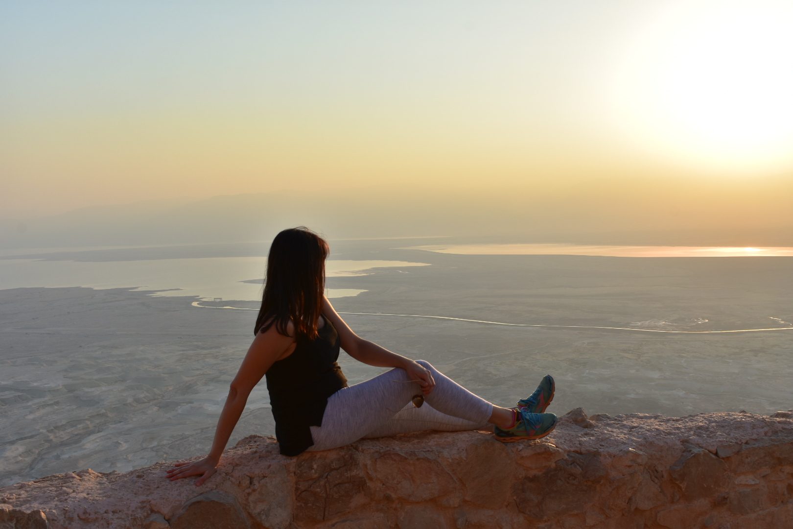 We reached the top of the mountain at sunrise (yup, still pregnant).