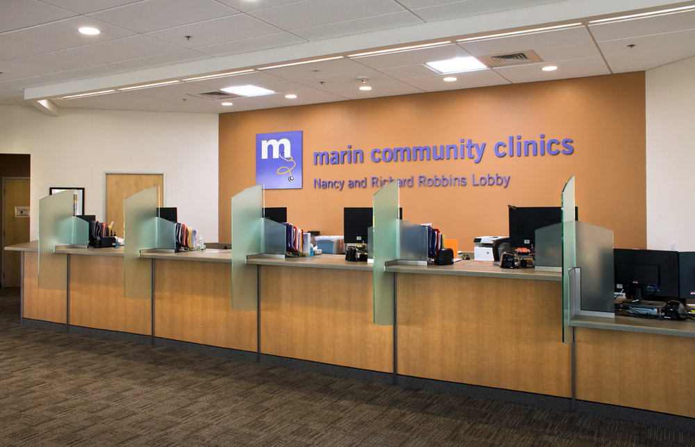 Marin Community Clinics is an illustration of a comfortable, non-threatening, family-centered medical environment.  With all community clinics design and construction budgets are limited, therefore inexpensive off-the-shelf materials and finishes are used in creative ways to meet the construction schedule timeline and come in under budget.