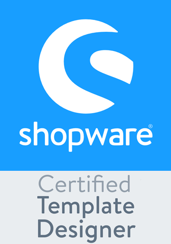 Wir sind Shopware Certified Template Designer