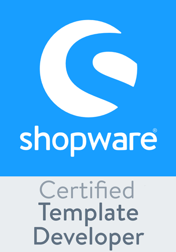 Wir sind Shopware Certified Template Developer