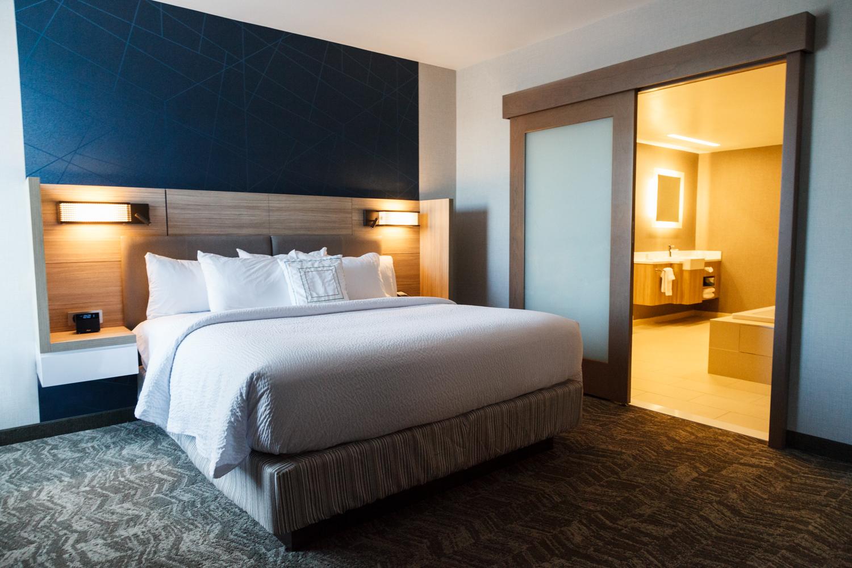 Marriott SpringHill Suites Somerset New Jersey Bedroom Suite King Bed