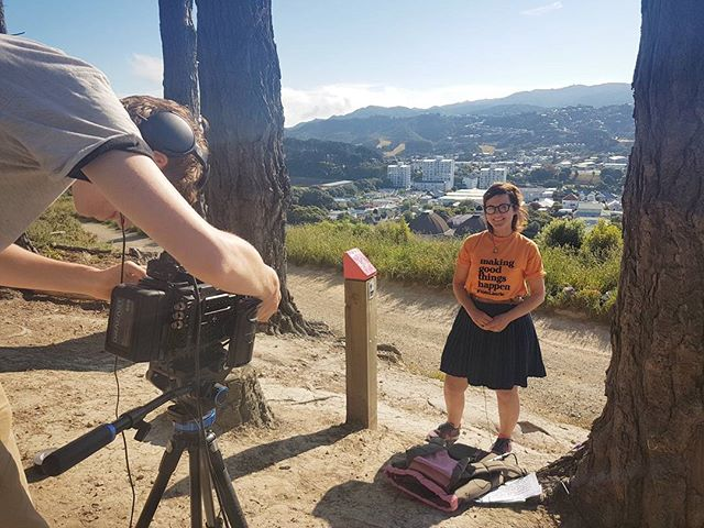 Another stunning day in Wellington filming the amazing Laurie! #votelaurie