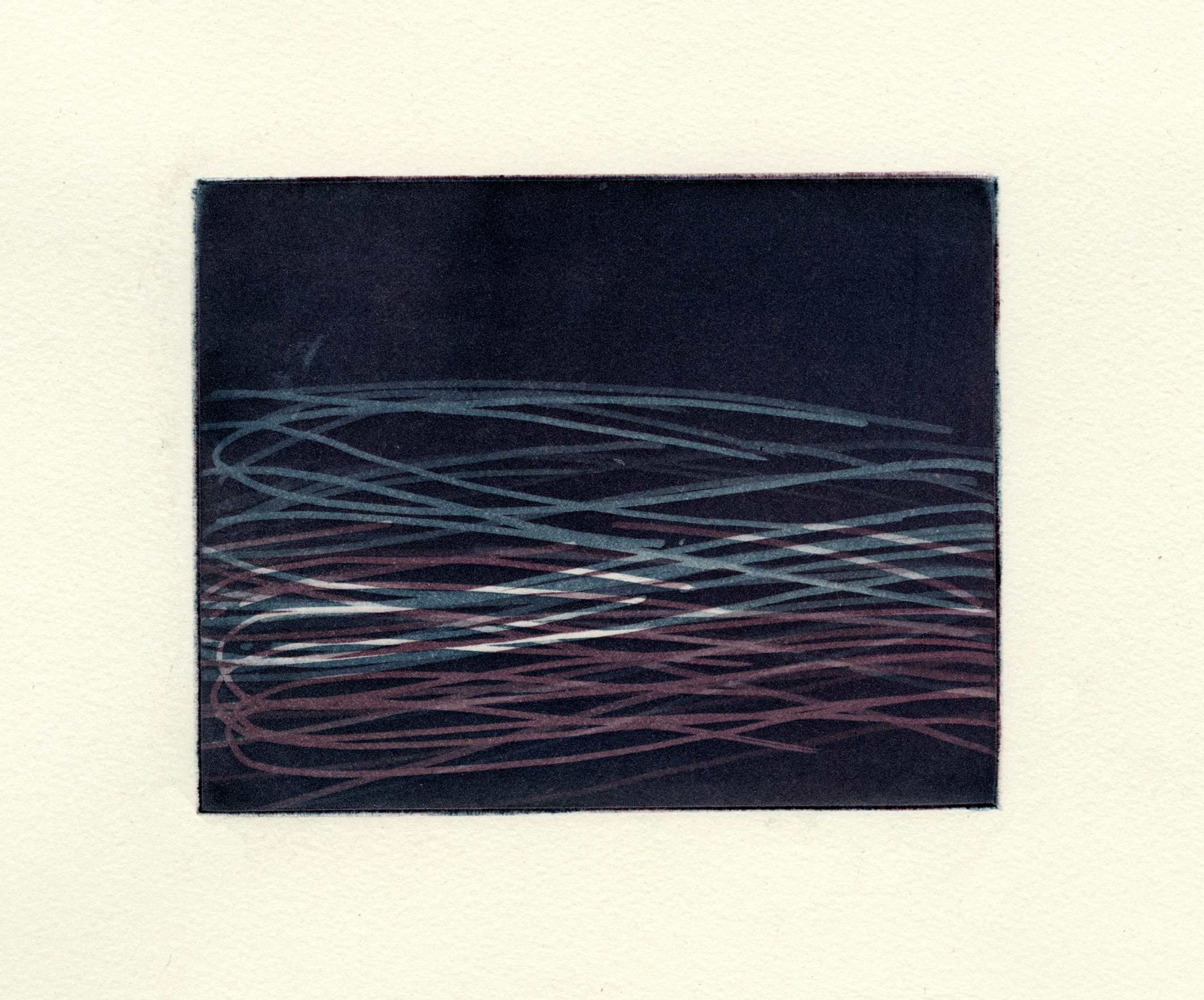 "Casting Drawing   , 2013  Etching 5"" x 6"""