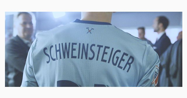 Some screenshots from the @bastianschweinsteiger testimonial. Filming for @mls and @copa90us