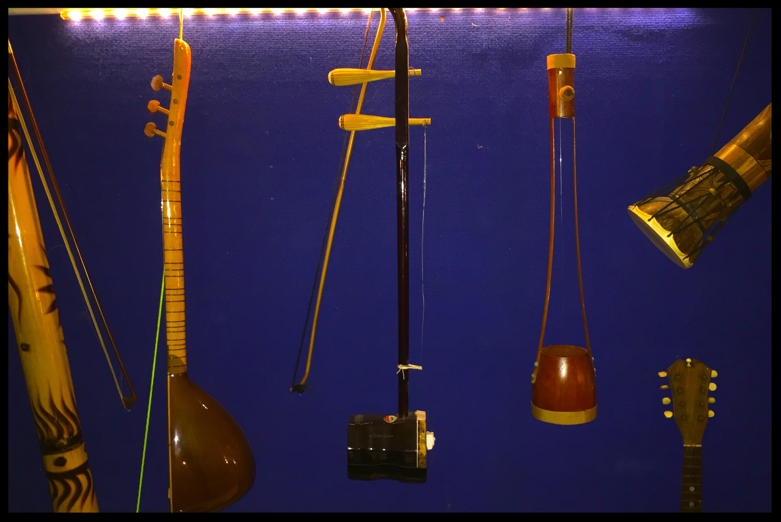 Instruments from every quarter of the world interest us.