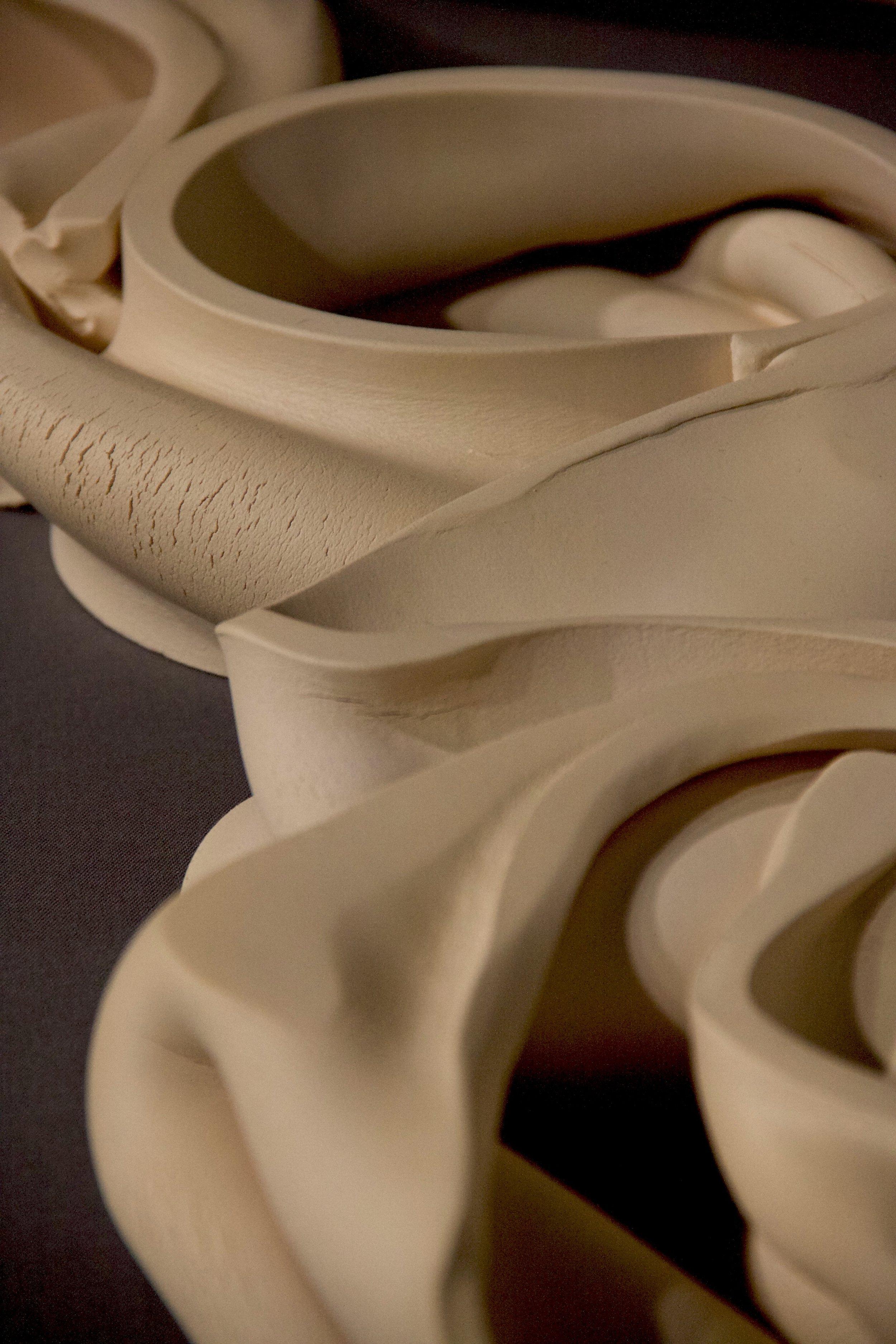 "Mariko Wada: ""State of mind"", stoneware, plate technique, 2014"