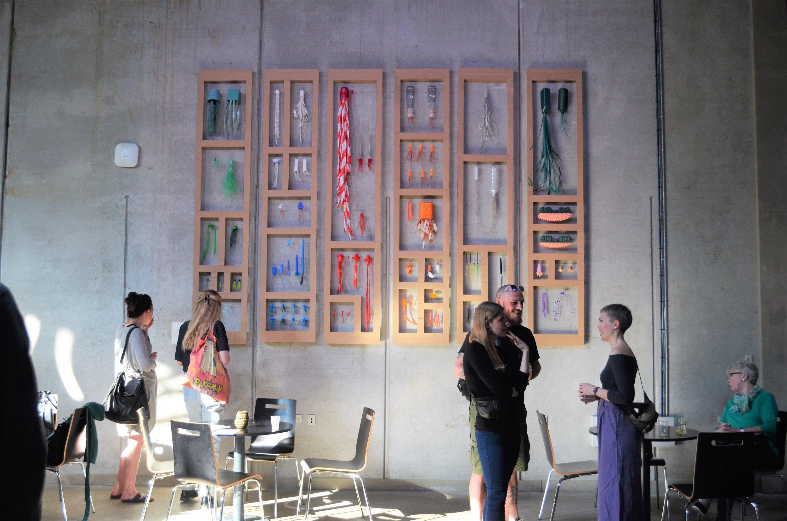 Carolien Adriaansche, Collection Aarhus C , 2017. Site-specific installation, Rethinking MATTER: Biotic Synthetic.