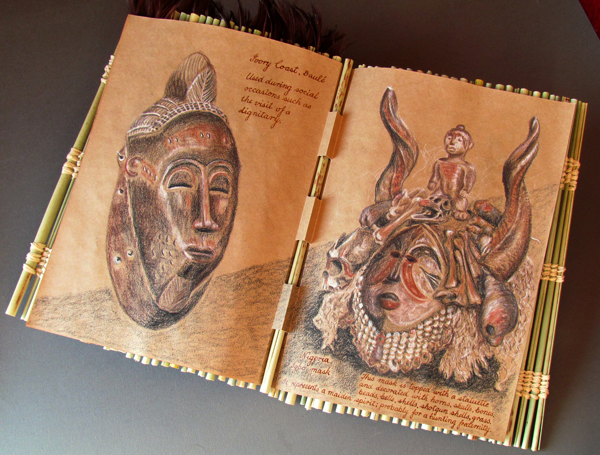 Masks from ivory coast and nigeria