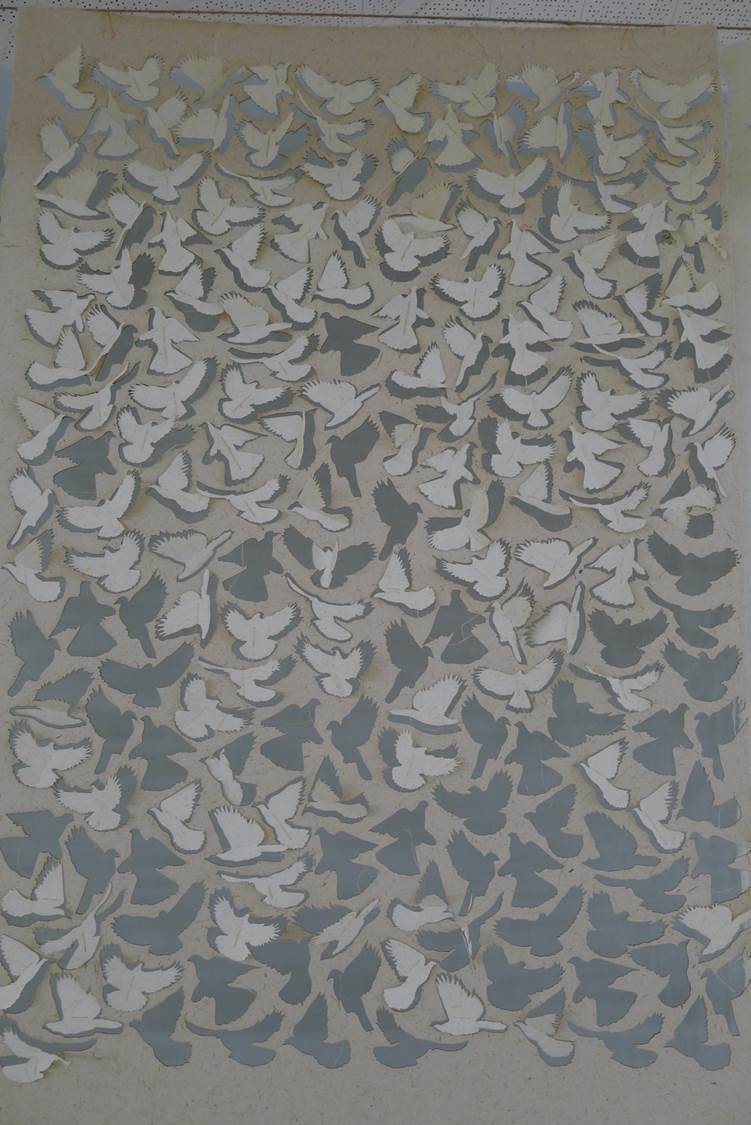 flax paper kereru cutouts liftoff