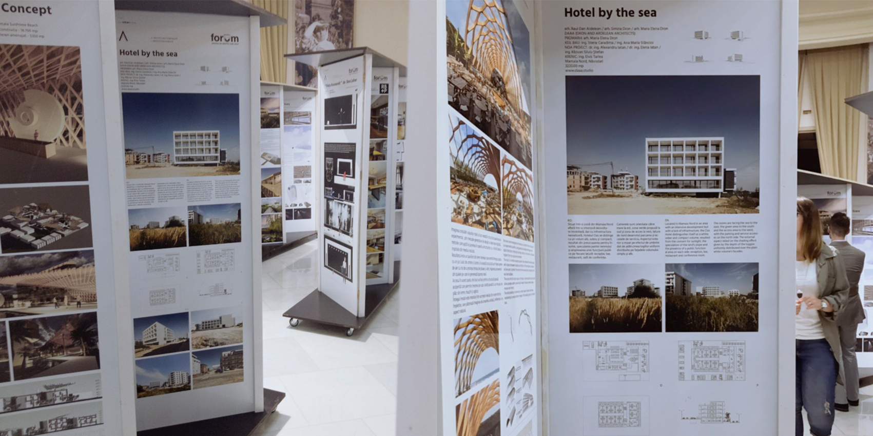 HOTEL BY THE SEA presented and nominated at The Bucharest Architecture Annual / Anuala de Arhitectură București 2019 in the Public Architecture category - Hotel by the sea (Clas Hotel) project was presented in AAB 2019 exhibition and it received a nomination for the best project in the Public Architecture category.More details here:https://www.anuala.roAnd here:https://www.anuala.ro/proiecte/2019/147/