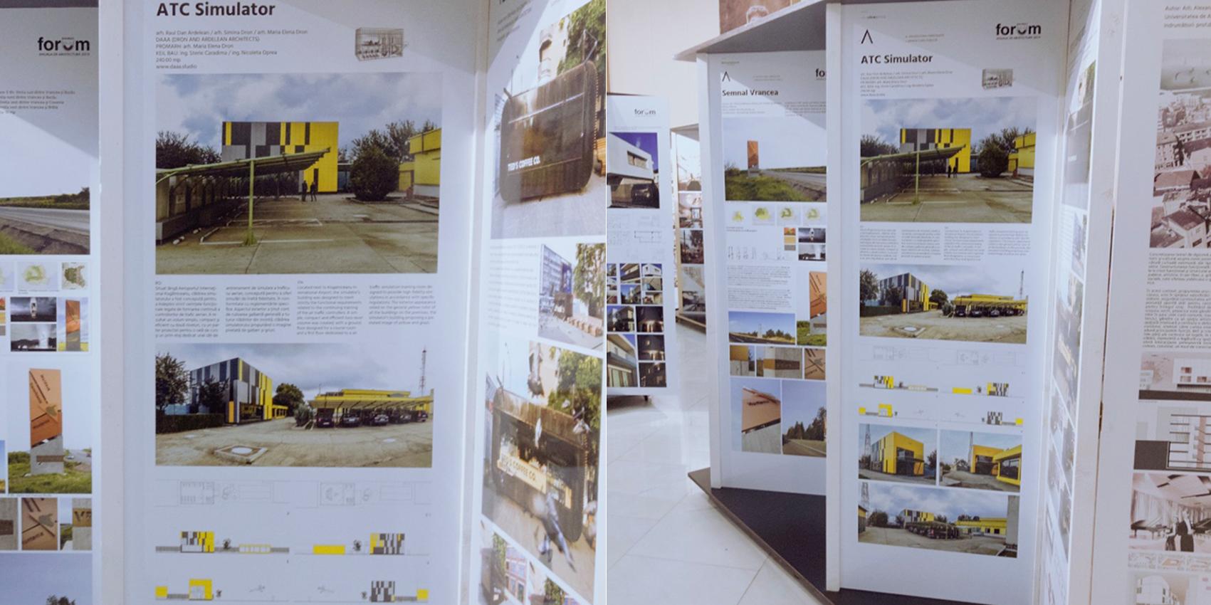 ATC SIMULATOR presented at The Bucharest Architecture Annual / Anuala de Arhitectură București 2019 in the Public Architecture category - ATC Simulator project was presented in AAB 2019 exhibition in the Public Architecture category.More details here:https://www.anuala.roAnd here:https://www.anuala.ro/proiecte/2019/206/