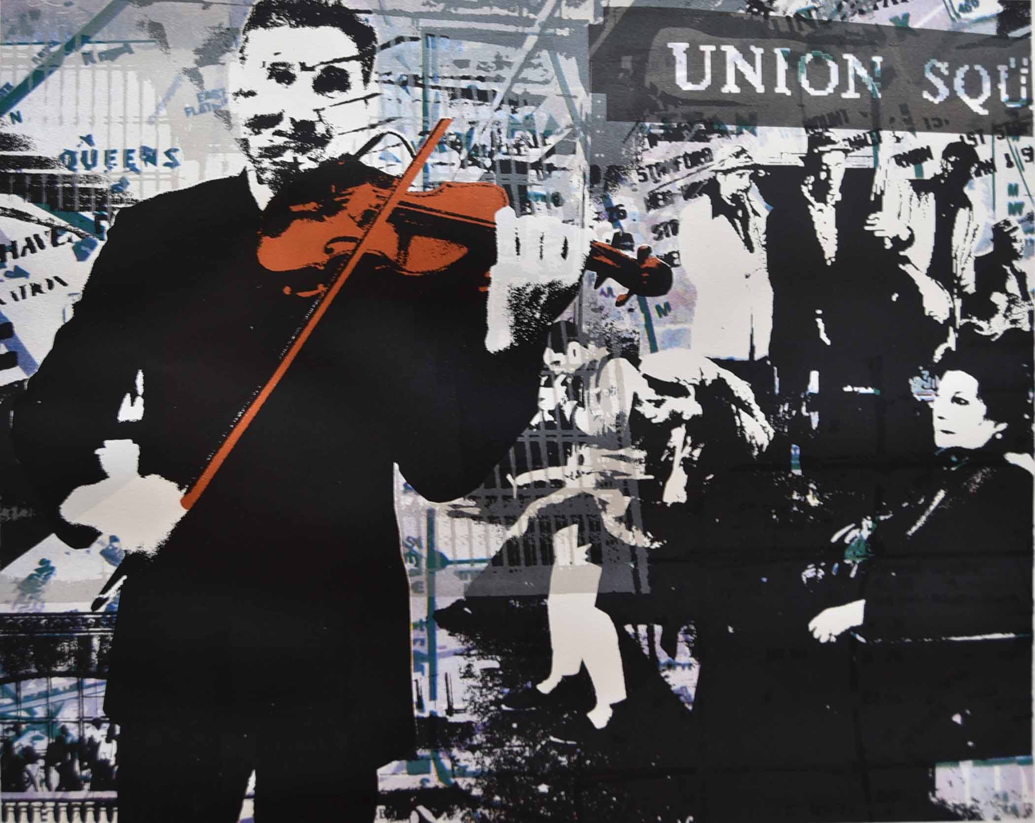 "The Violinist  - 20""x25"", 2016"