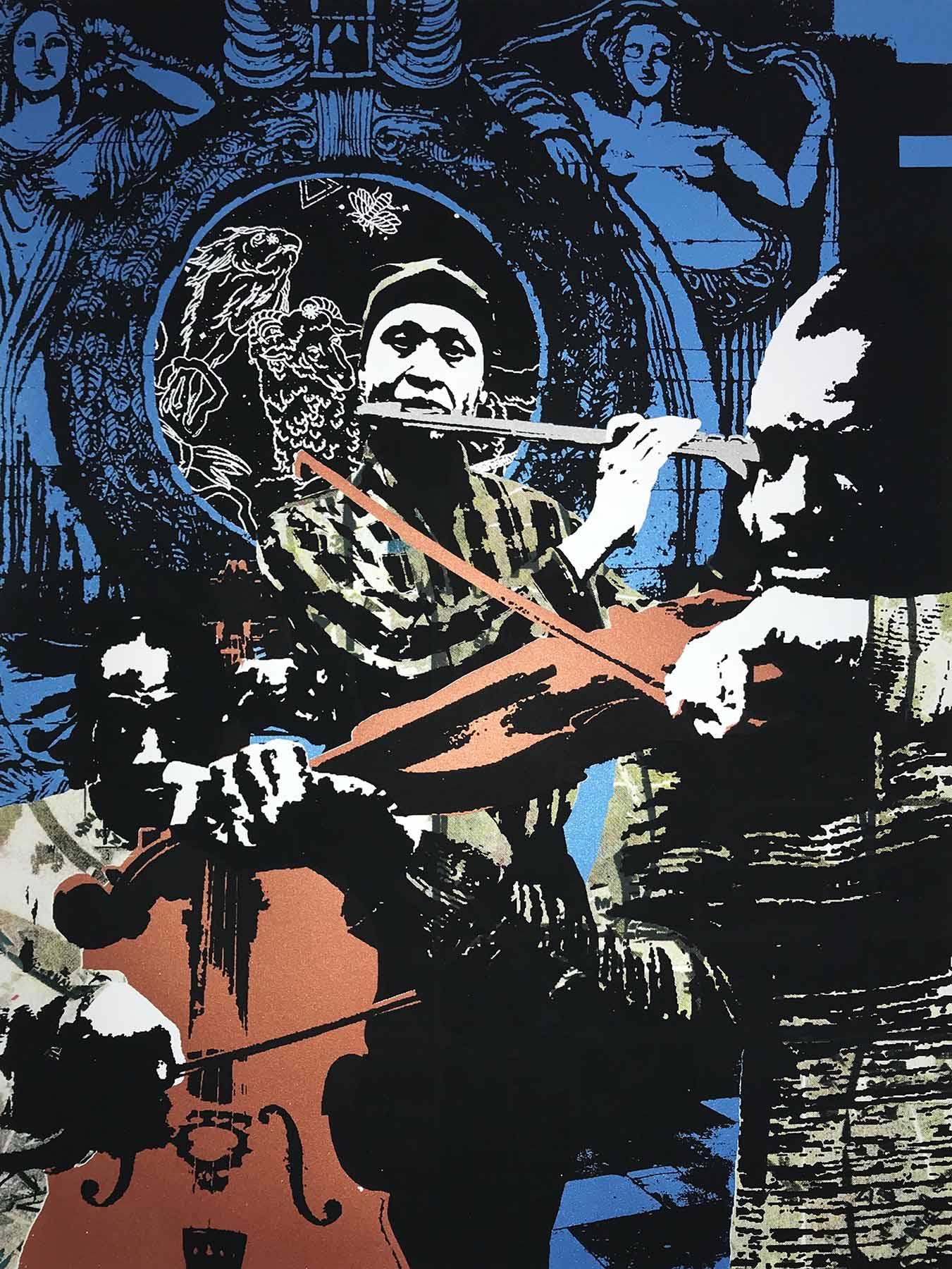 """The Trio - 22.75""""x17"""", 2018"""