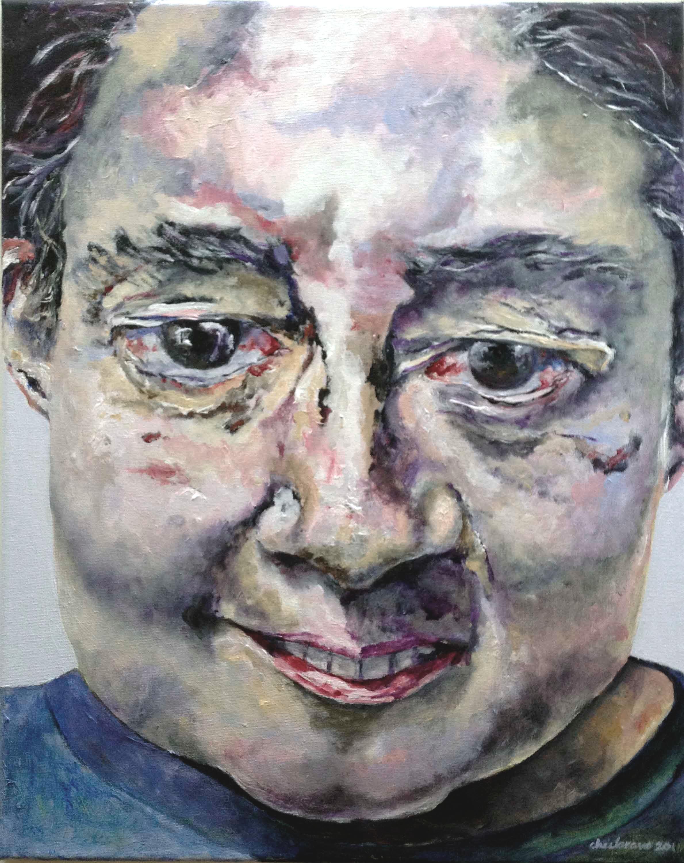 """La Mariposa - acrylic, 20""""x16"""", 2014"""