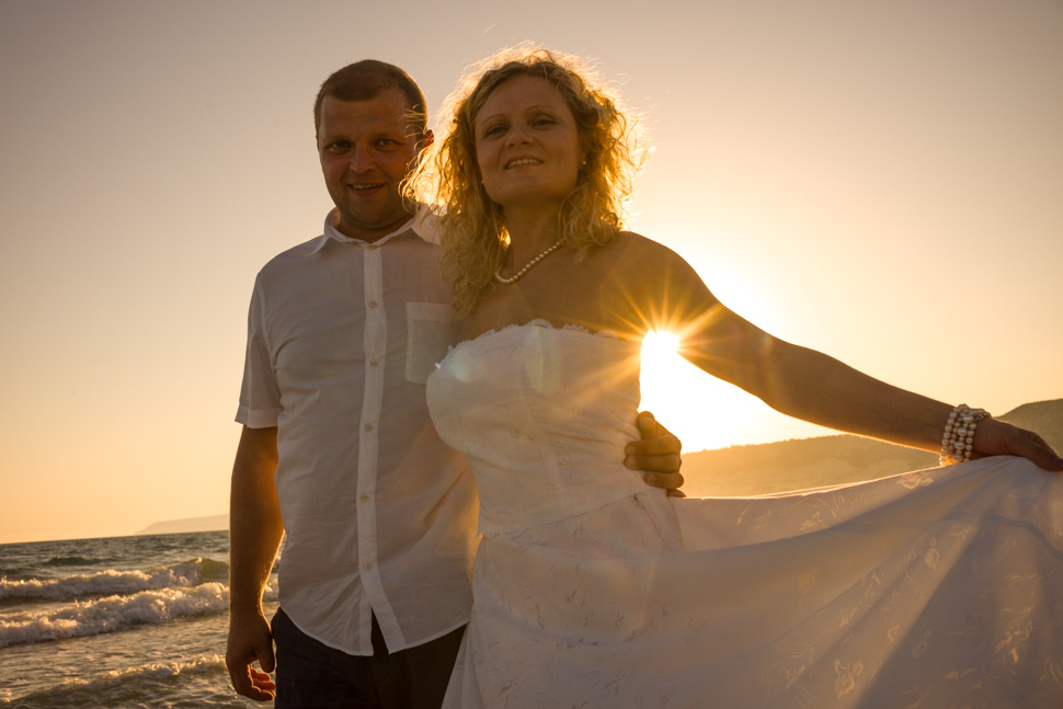 Kourion beach Cyprus wedding photographer