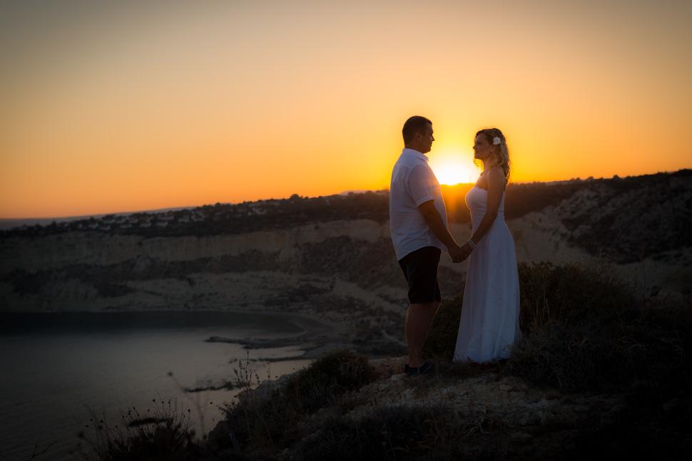 Sunset photographs Cyprus Kourion Beach