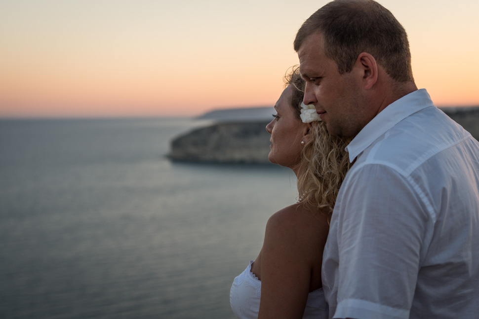 Kourion beach engagement shoot