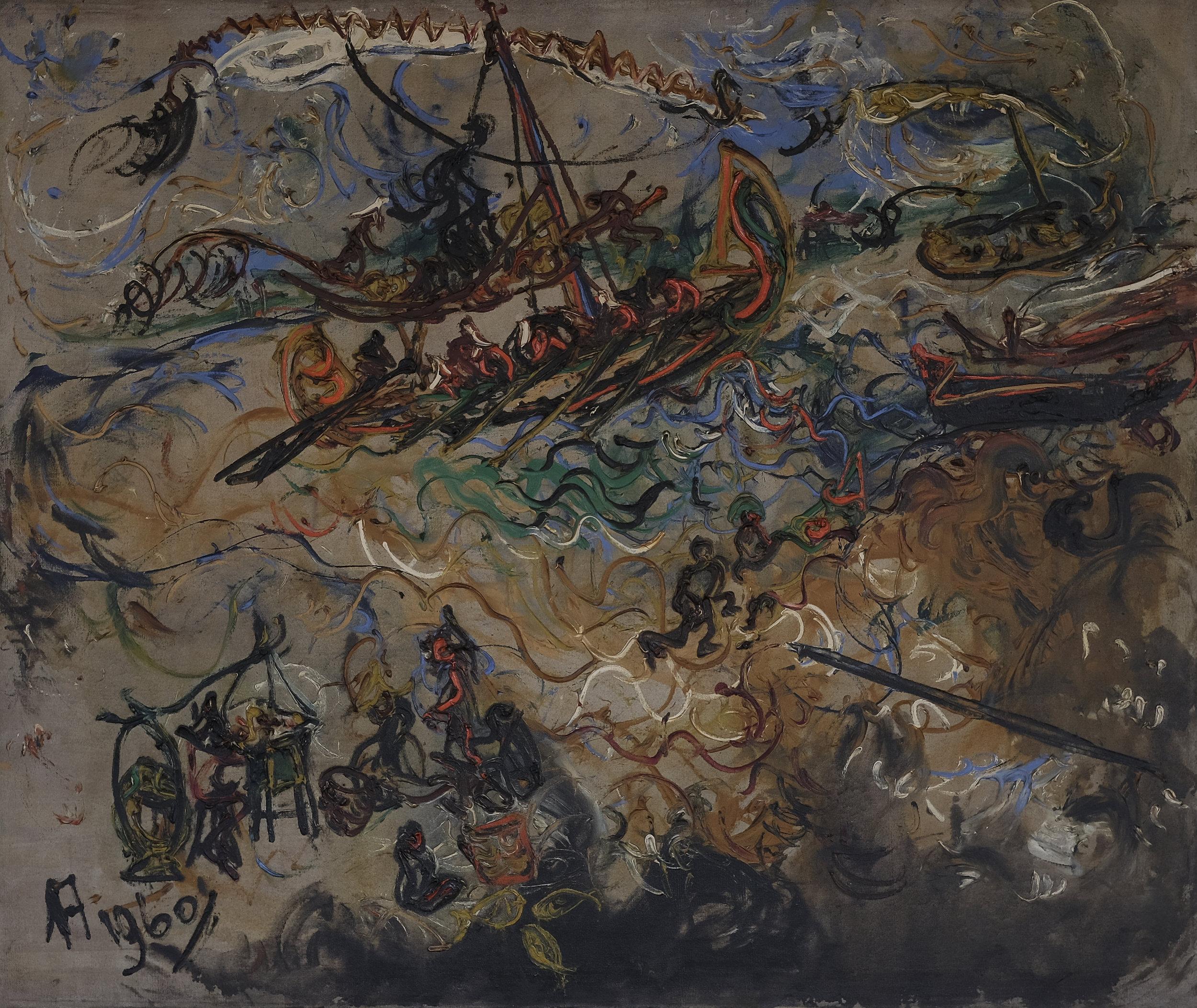 Affandi, Pemandangan Laut Jawa (Seascape of the Java Sea), ooc, 104 x 124 cm, 1960.jpeg