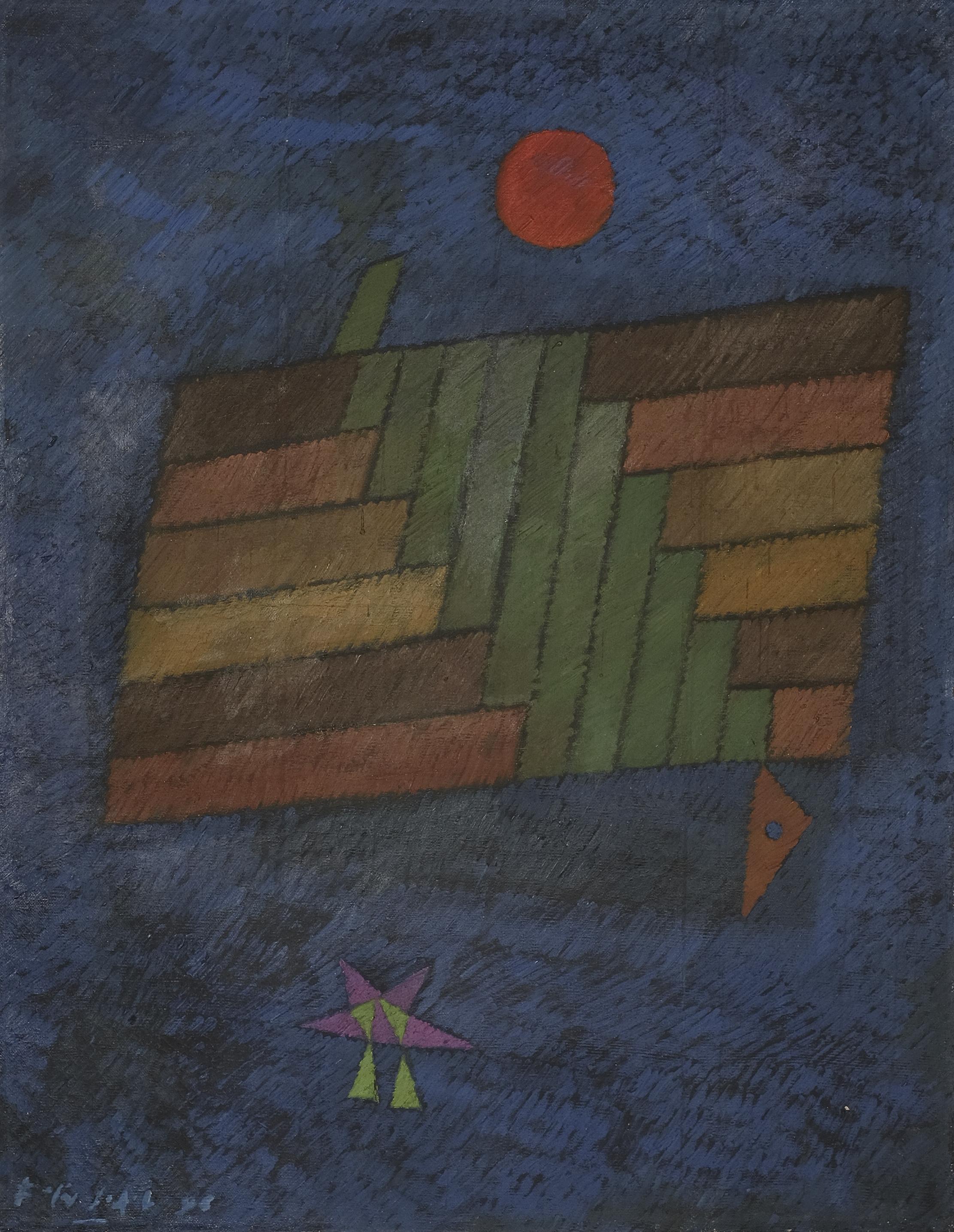 Fadjar Sidik, Dinamika Keruangan (Space Dynamics), ooc, 90 x 70 cm, 1971.jpeg