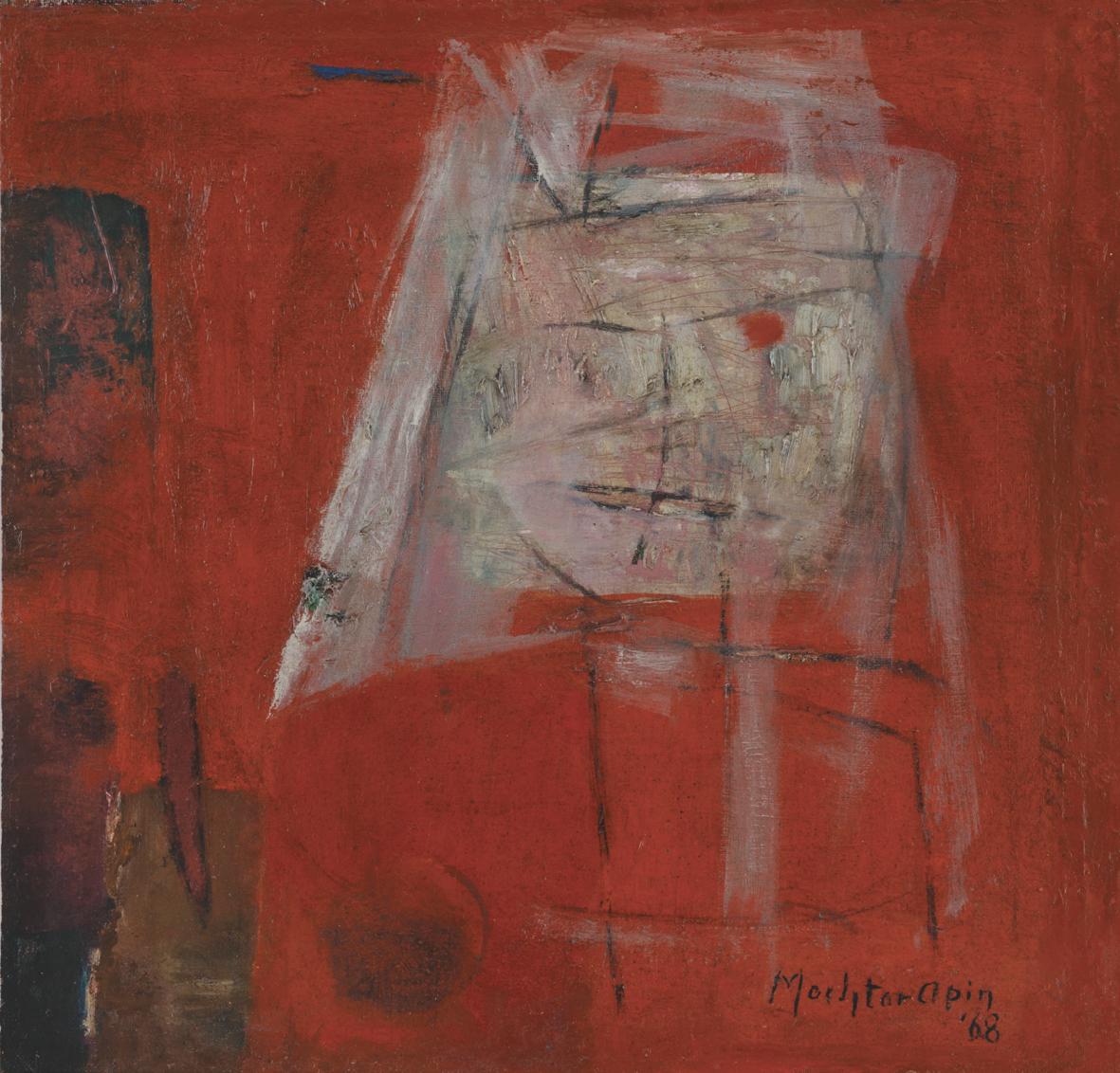 Mochtar Apin, Abstract Face, ooc, 33 x 33 cm, 1968.jpg