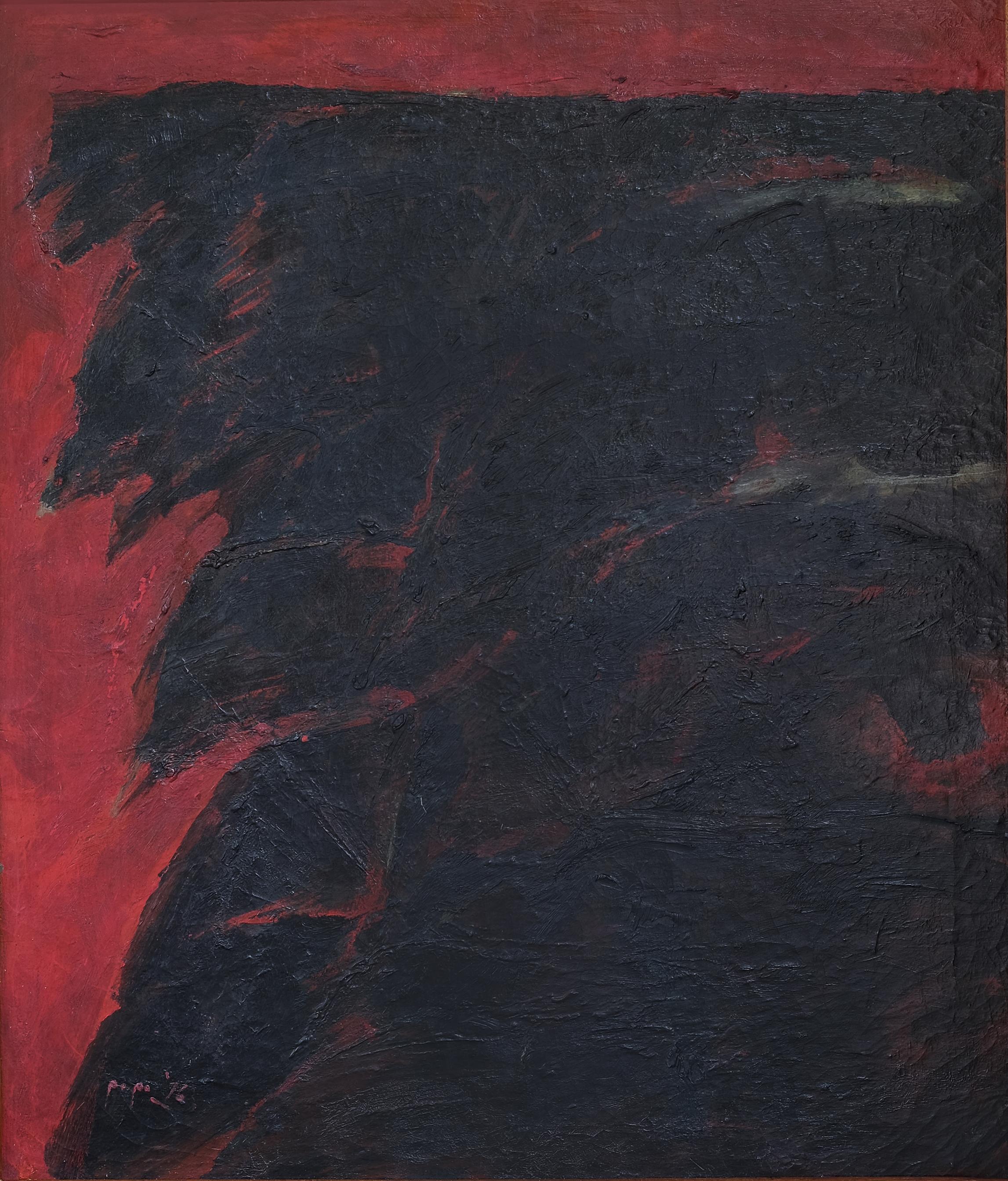 Popo Iskandar, Cahaya dicelah Kabut Pagi (Dawn Peeking behind the Morning Fog), ooc, 70 x 60 cm, 1976.jpeg