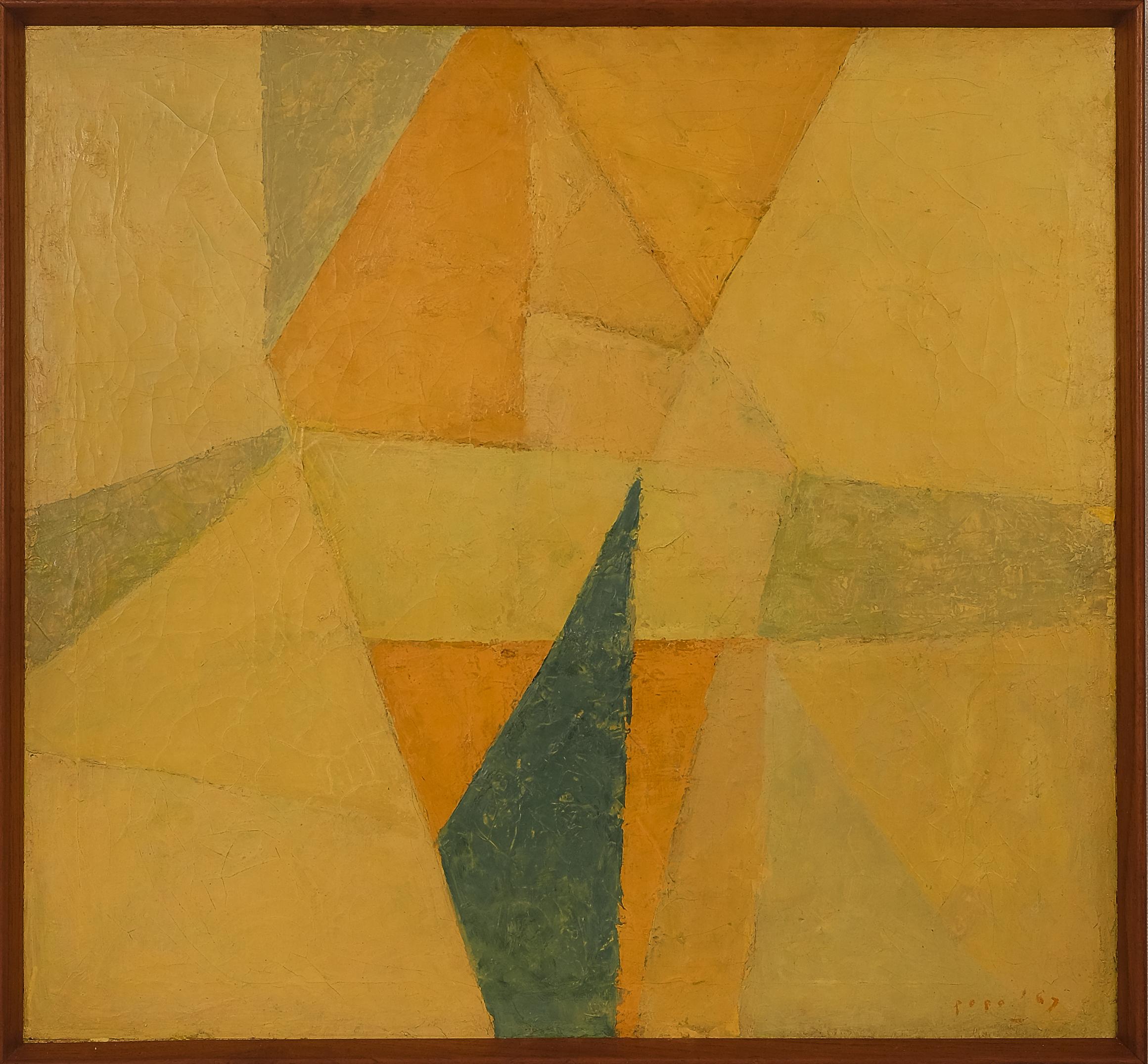 Popo Iskandar, Bunga Kuning (Yellow Flower), ooc, 60 x 65 cm, 1967.jpeg