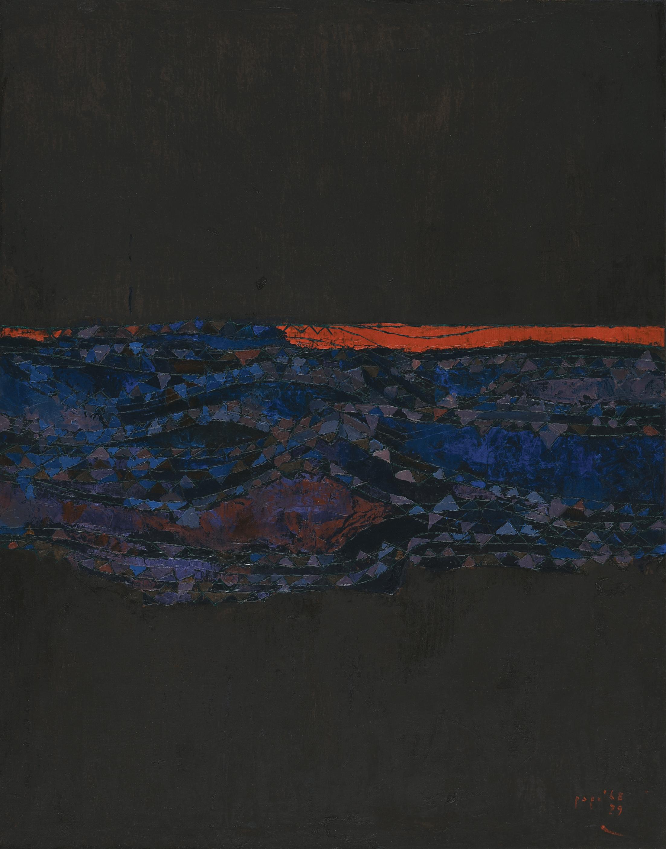Popo Iskandar, Sunset, ooc, 92x73cm, 1968-79.jpg