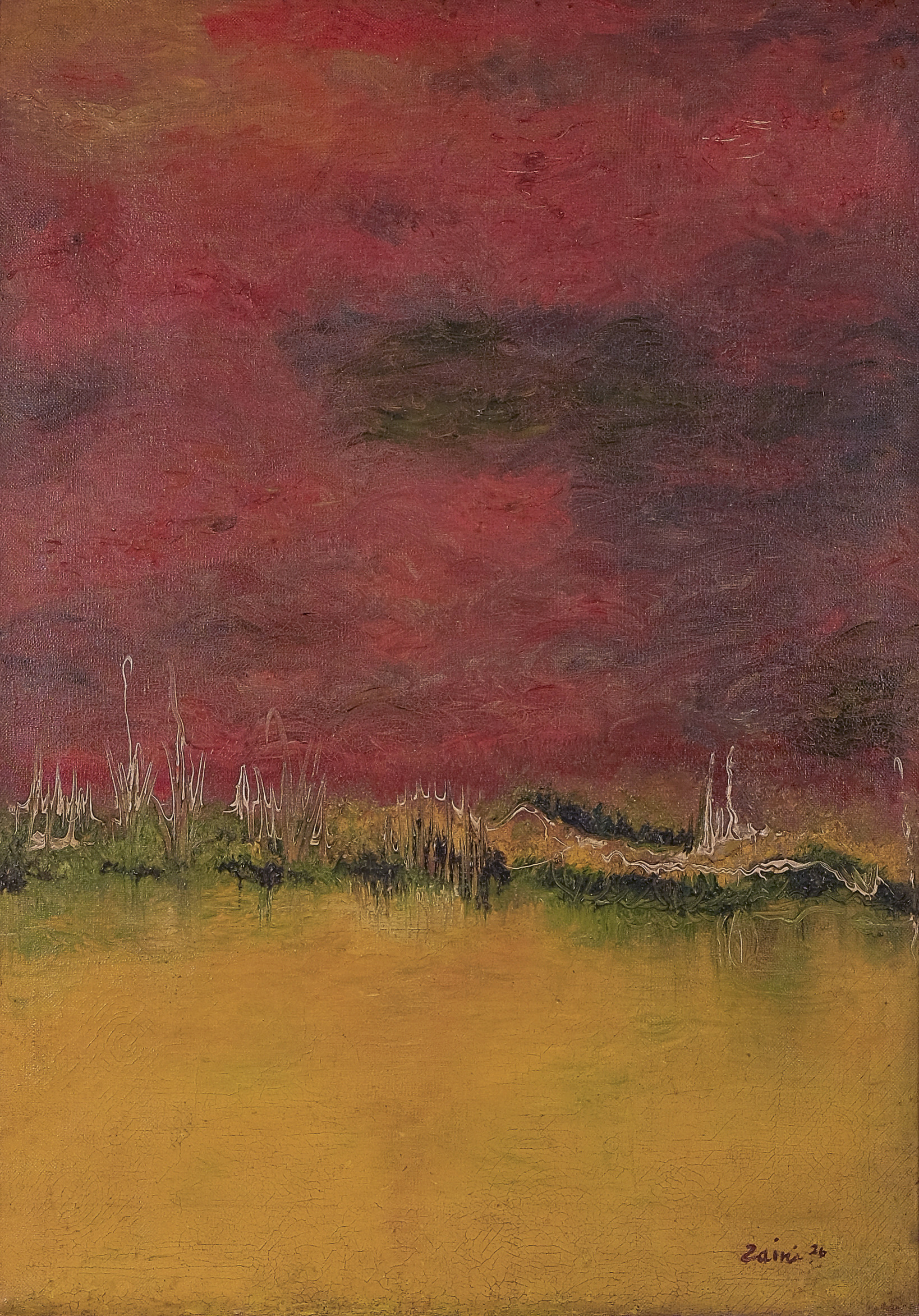 Zaini, Langit Merah (Crimson Sky), ooc, 70 x 50 cm, 1976.jpg