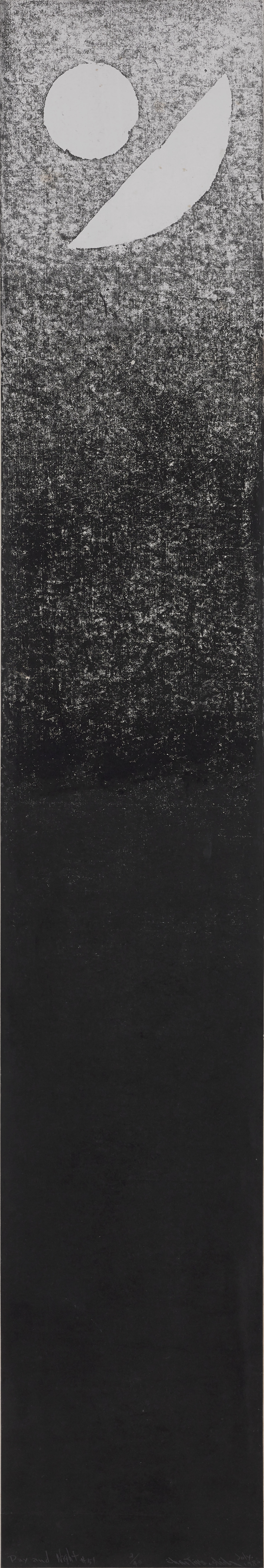 Chen Ting-Shih, Day and Night #51, 181x30.5cm, ed 2:40, woodcut print, 1982.png