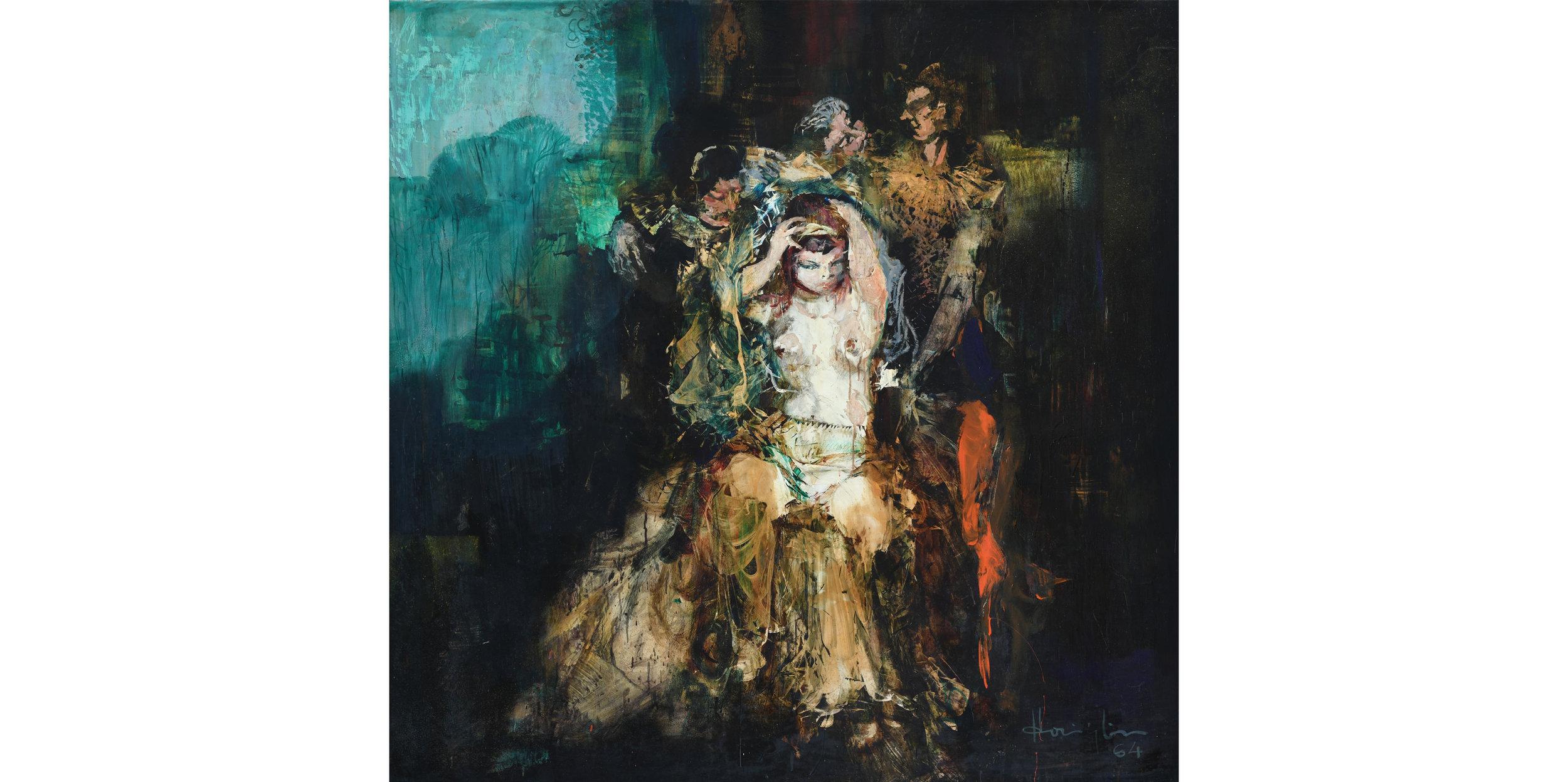 Untitled (A Scene from Opera) , 1964 oil on board 150 x 150 cm
