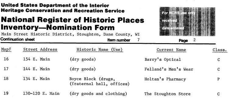 National Register of Historic Places Inventory - Nomination Form