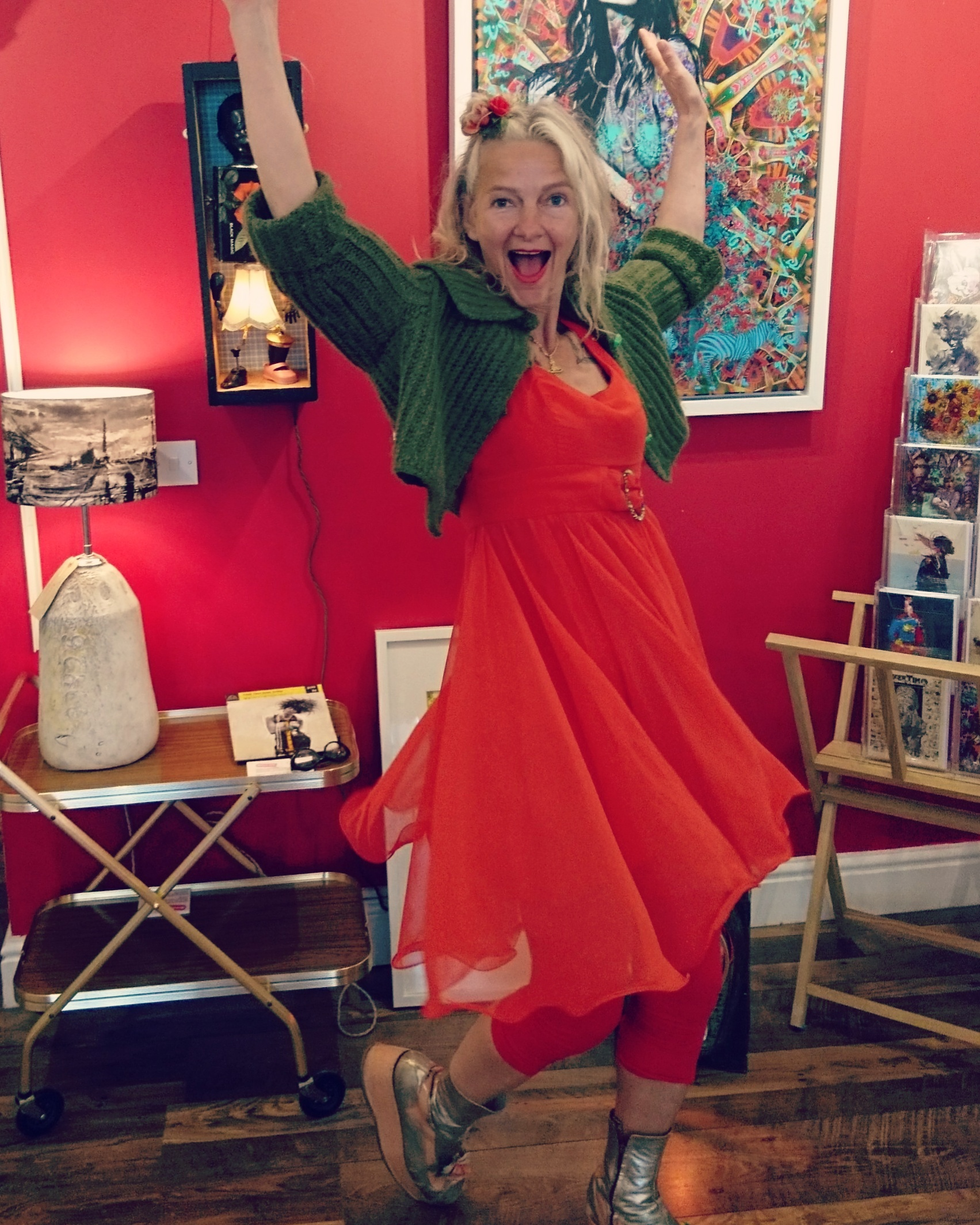 Smailes is charming and full of spirit - her energy completely in line with her art!
