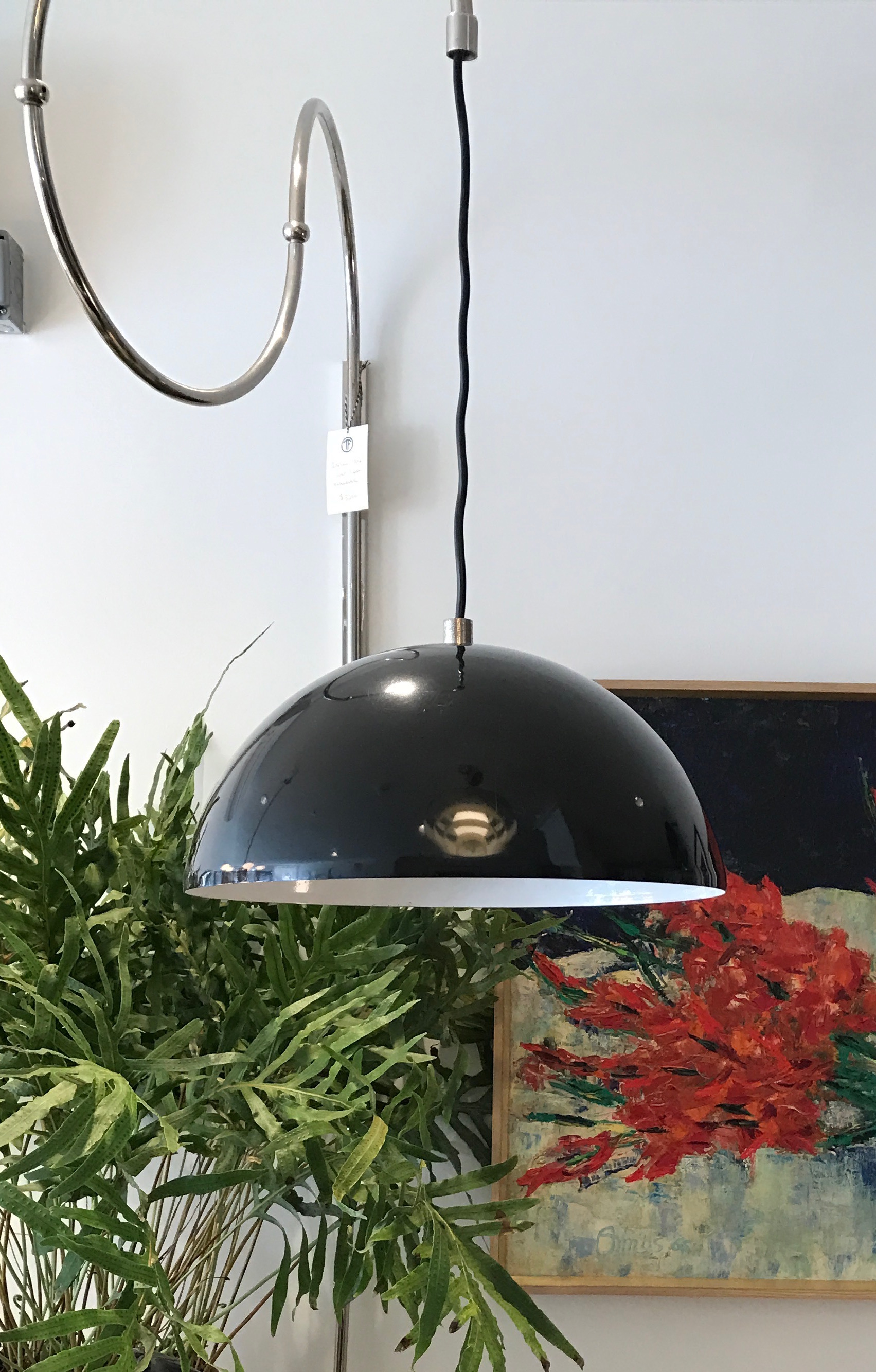 Vintage:  EXTENDABLE WALL LIGHT,  Black & Chrome,  $3200