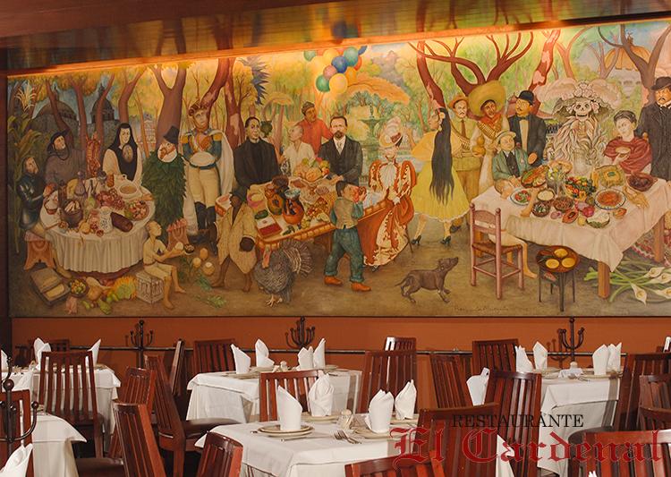 EL CARDENAL DE ALAMEDA  70 Juárez Avenue, dentro del Hotel Hilton, México. Telefono: +52 55 186632 www.restauranteelcardenal.com