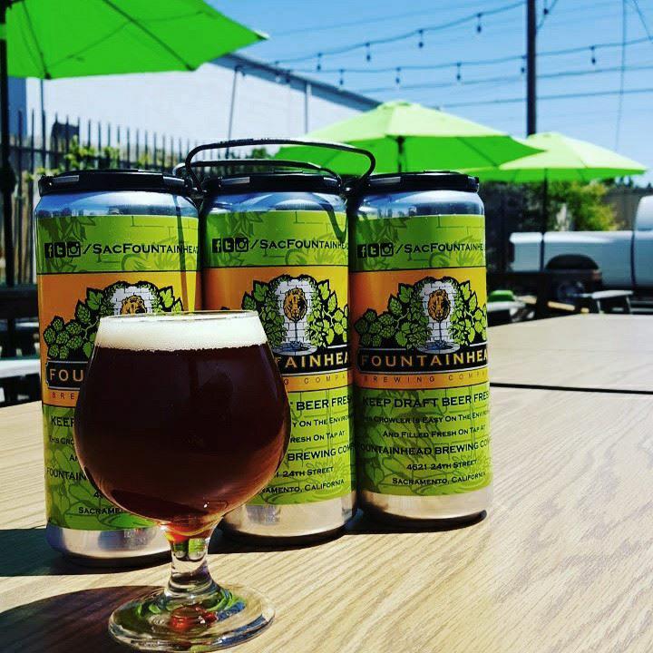 FOUTAINHEAD  Dirección:Fountainhead Brewing Co.4621 24th Sacramento, CA 95822 Teléfono:+1 916-228-4610 Web: https://www.fountainheadbrewingco.com  Correo Electrónico: email@fountainheadbrewingco.com  @facebook: https://www.facebook.com/SacFountainhead/  @instagram @twitter: https://twitter.com/SacFountainhead