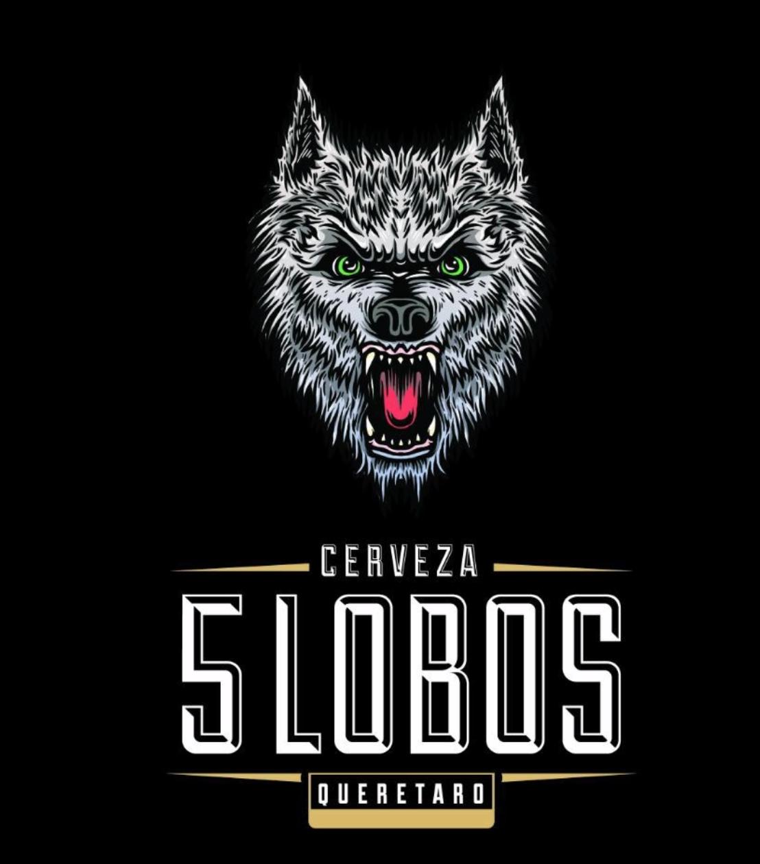 CERVEZA 5 LOBOS   @facebook   @  instagram