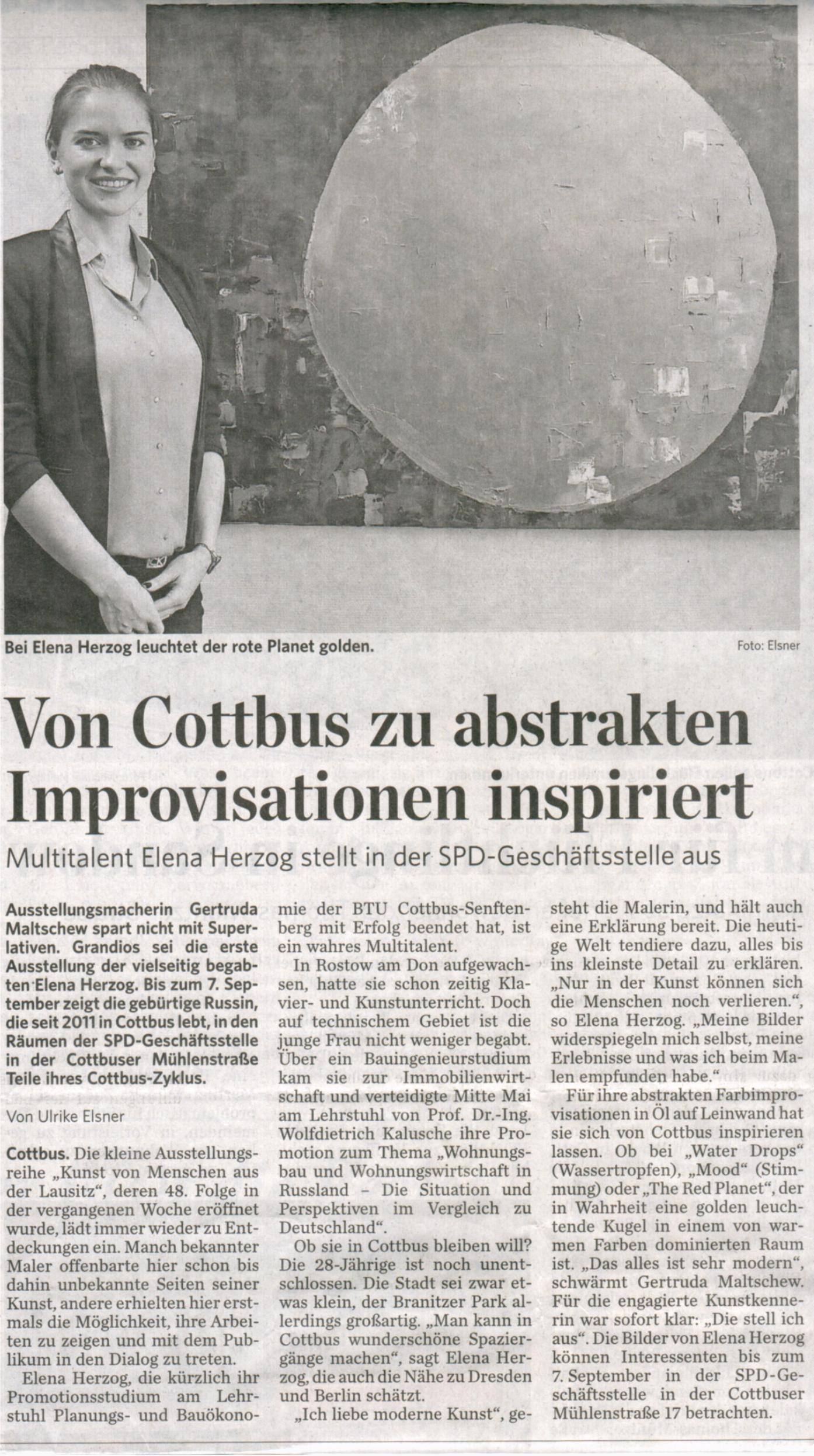 Lausitzer Rundschau | Cottbus | July 21 2015