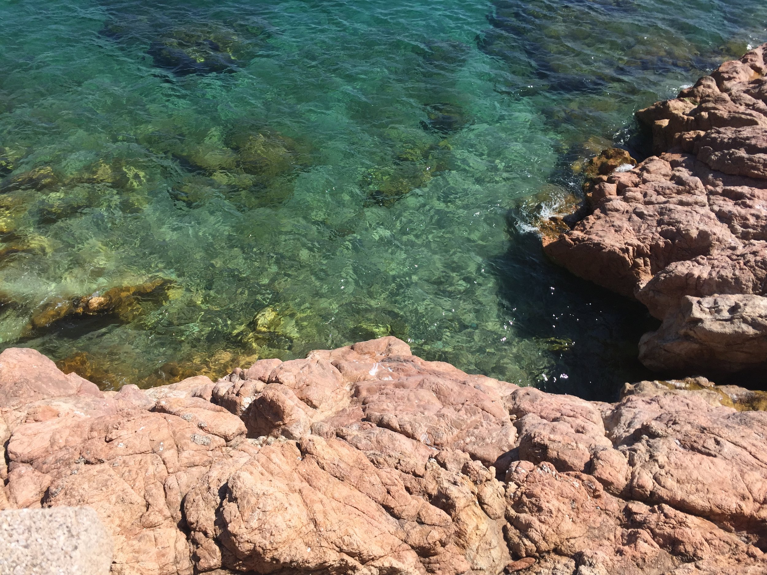 Sparkling green water in  Tossa de Mar .