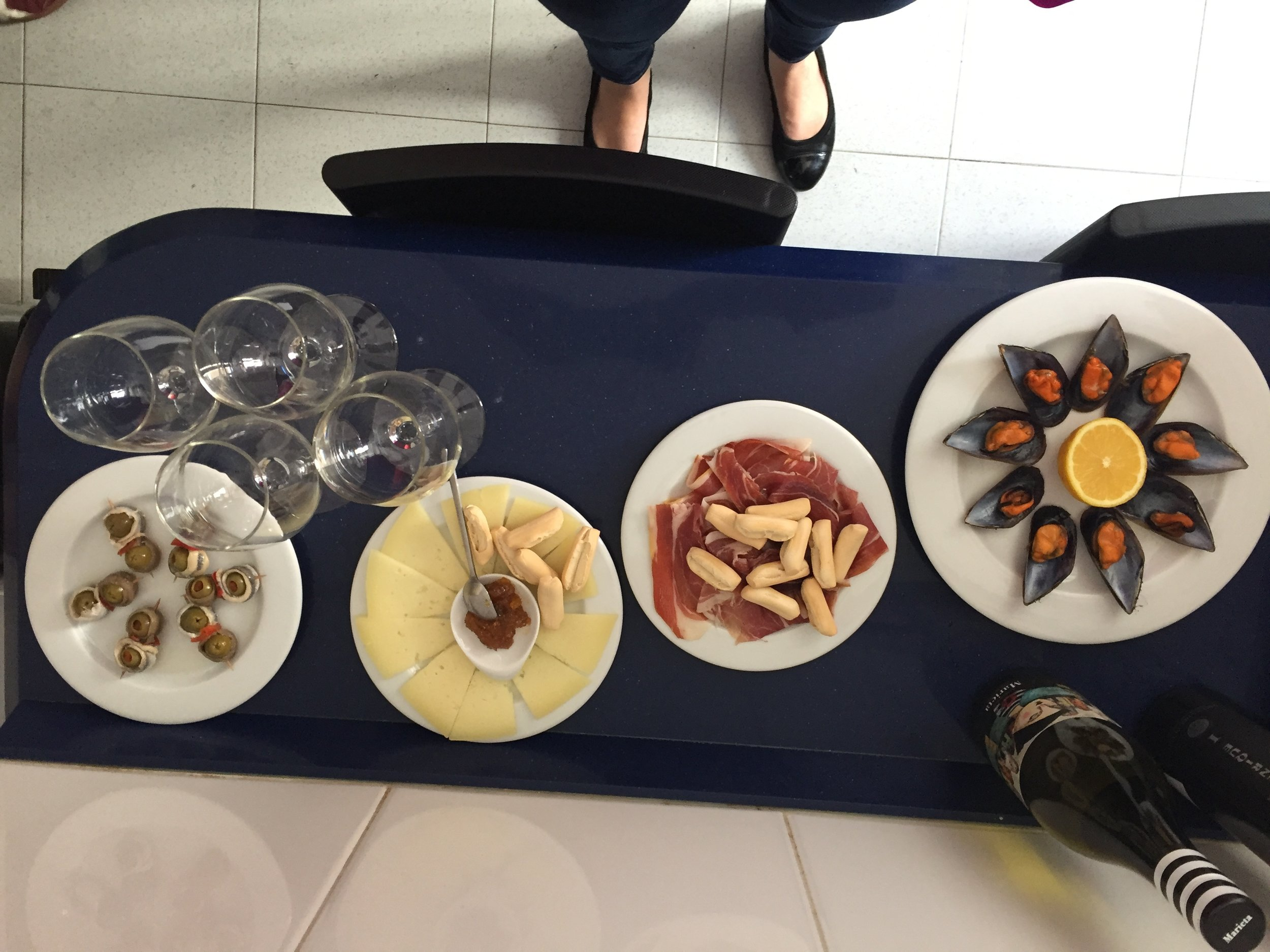 Amazing pre-lunch tapas at my  EatWith  host's home. I highly recommend EatWith as a way to experience local culture, support residents of the city you are visiting and meet other travelers.