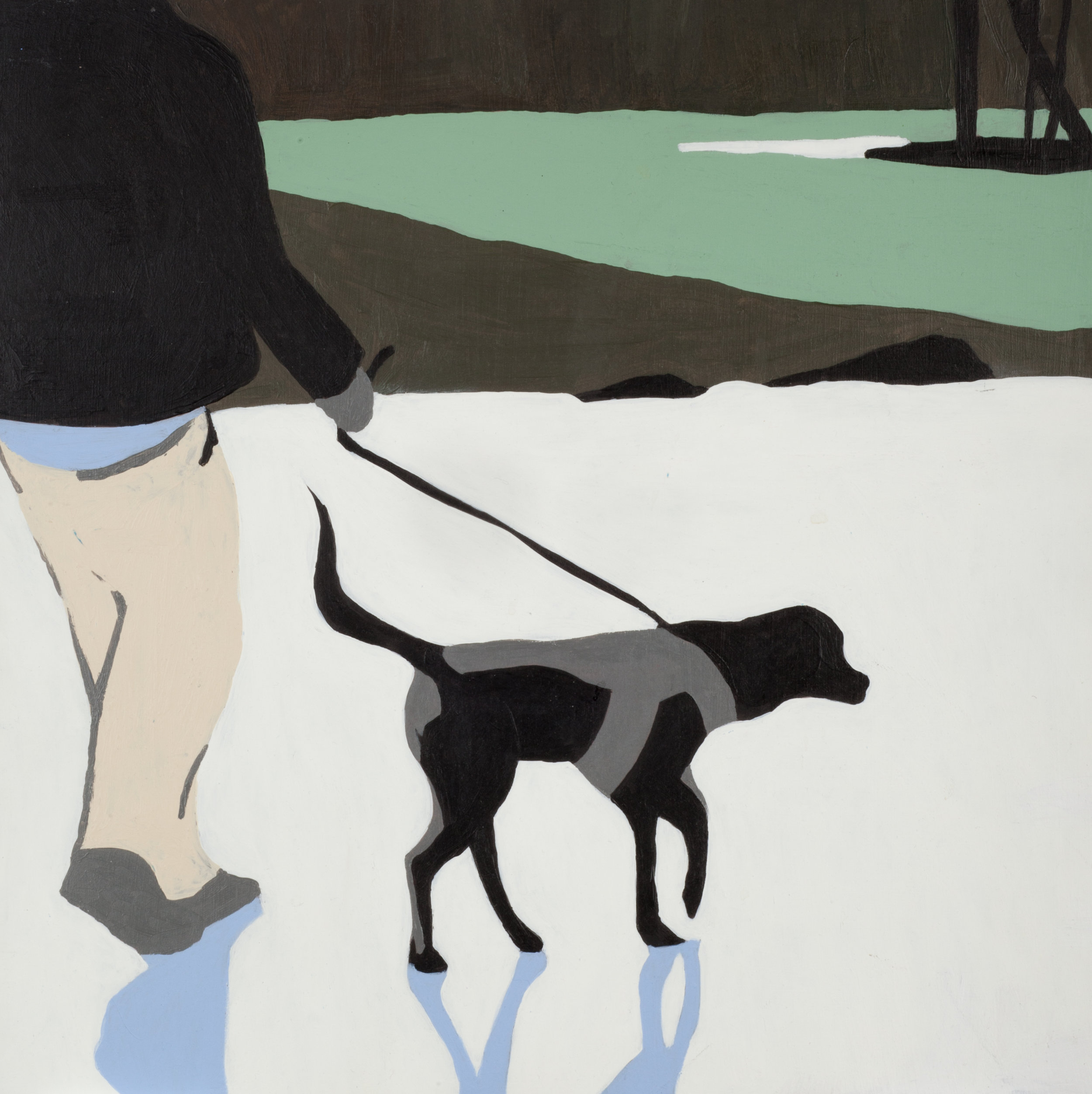 """Dog, 2015, Acrylic on panel. 12"""" x 12"""""""