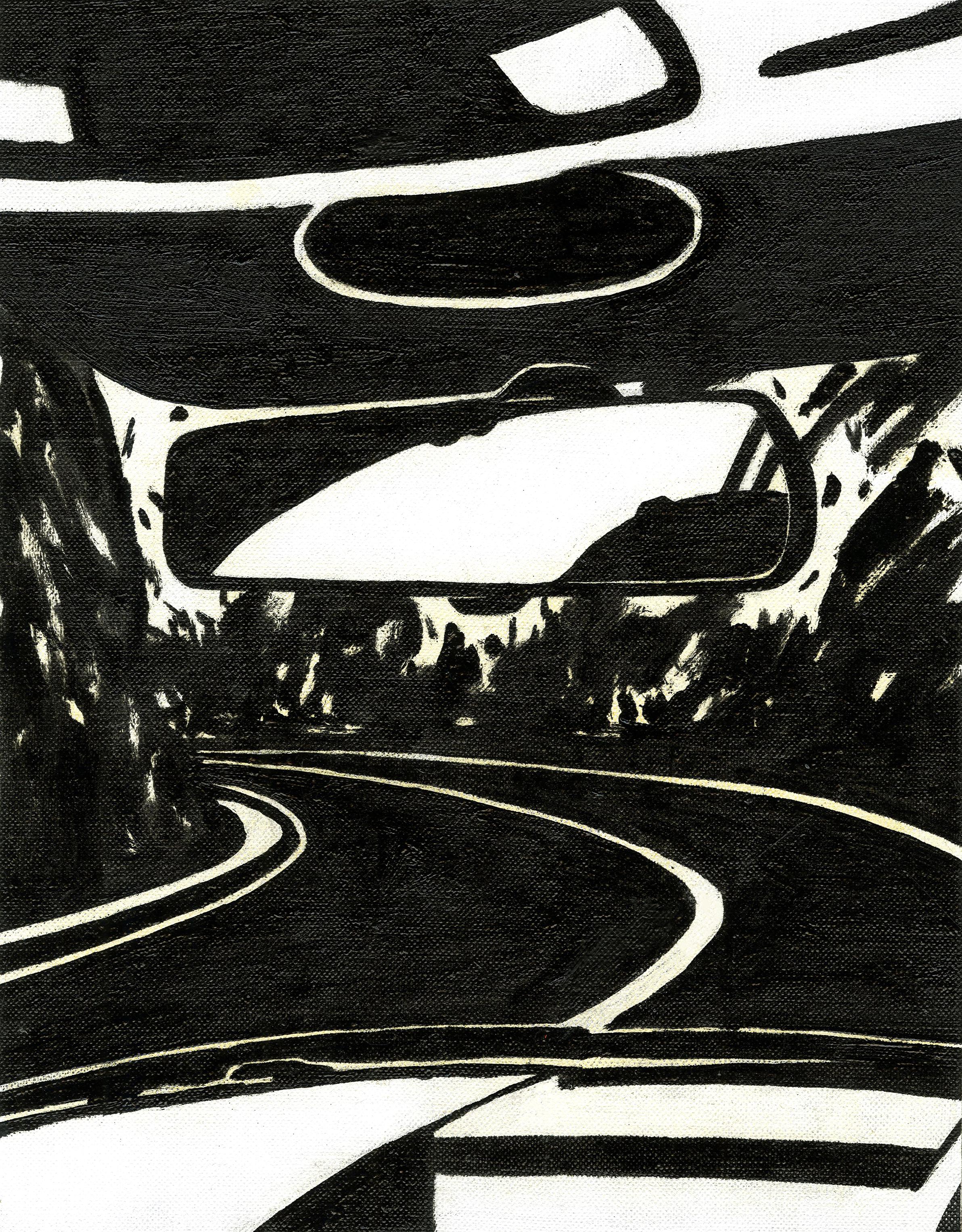 Road, 2016, Oil on linen