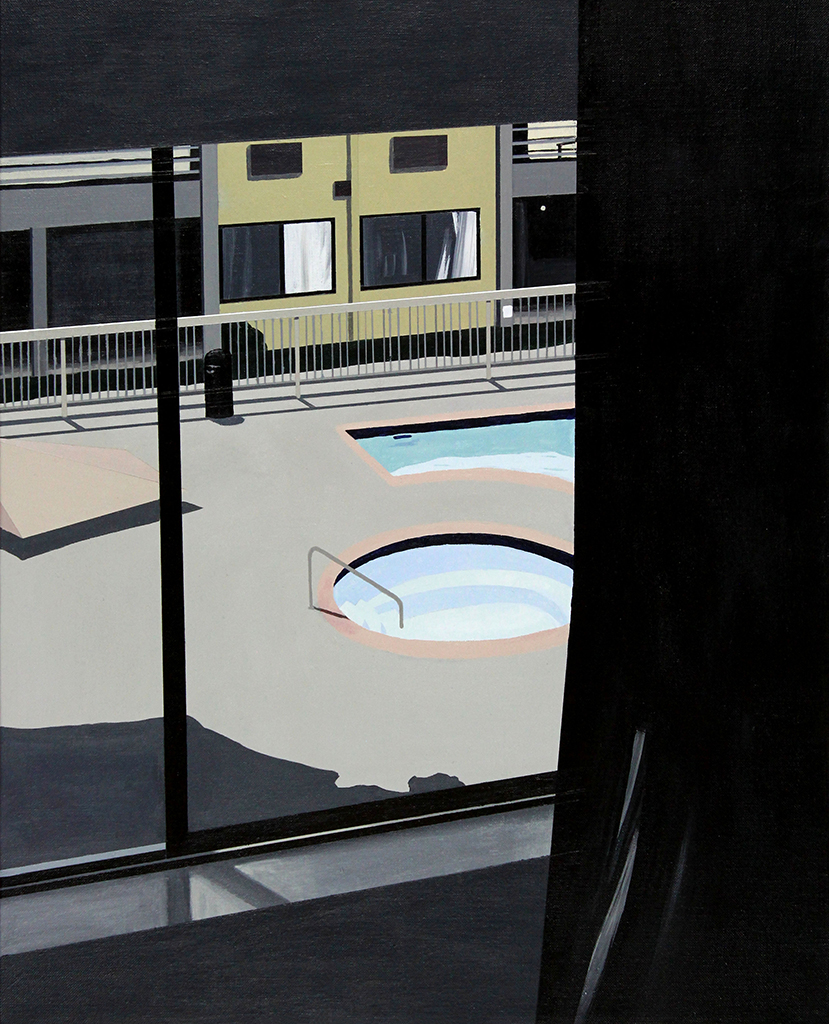 "Swimming Pools, 2017. Acrylic on linen 20"" x 16"""