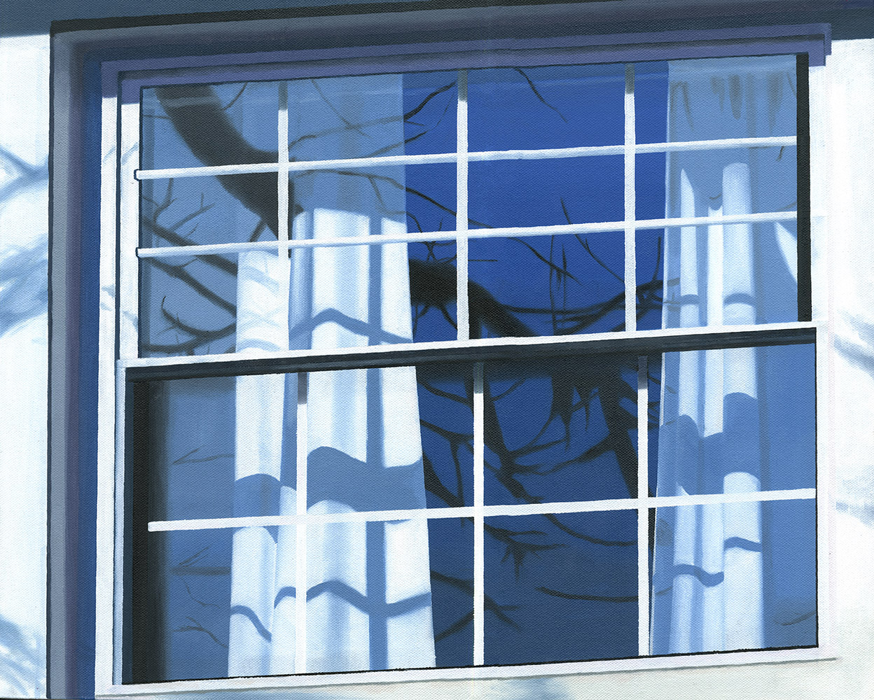 "Blue Window, 2017. Oil on canvas 20"" x 16"""