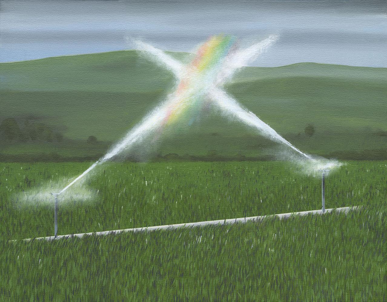 """Rainbow, 2017. Oil on canvas 18"""" x 14"""""""